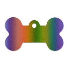 Colorful Stipple Effect Wallpaper Background Dog Tag Bone (two Sides)