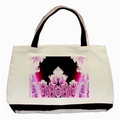 Fractal In Pink Lovely Basic Tote Bag by Simbadda