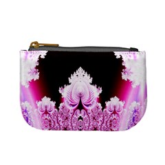 Fractal In Pink Lovely Mini Coin Purses by Simbadda