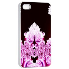 Fractal In Pink Lovely Apple Iphone 4/4s Seamless Case (white) by Simbadda
