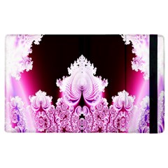 Fractal In Pink Lovely Apple Ipad 3/4 Flip Case by Simbadda