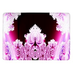 Fractal In Pink Lovely Samsung Galaxy Tab 10 1  P7500 Flip Case by Simbadda