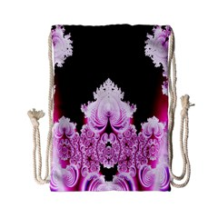 Fractal In Pink Lovely Drawstring Bag (small) by Simbadda