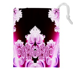 Fractal In Pink Lovely Drawstring Pouches (xxl) by Simbadda