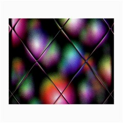 Soft Balls In Color Behind Glass Tile Small Glasses Cloth (2 Side) by Simbadda