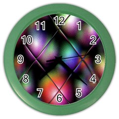 Soft Balls In Color Behind Glass Tile Color Wall Clocks by Simbadda