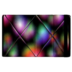 Soft Balls In Color Behind Glass Tile Apple Ipad 2 Flip Case by Simbadda