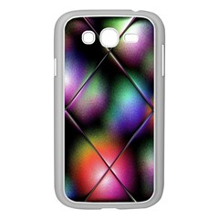 Soft Balls In Color Behind Glass Tile Samsung Galaxy Grand Duos I9082 Case (white) by Simbadda