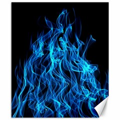 Digitally Created Blue Flames Of Fire Canvas 8  X 10  by Simbadda