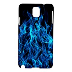 Digitally Created Blue Flames Of Fire Samsung Galaxy Note 3 N9005 Hardshell Case by Simbadda