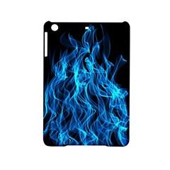 Digitally Created Blue Flames Of Fire Ipad Mini 2 Hardshell Cases by Simbadda