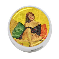 Pin Up Girl  4 Port Usb Hub (two Sides)  by Valentinaart