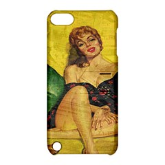 Pin Up Girl  Apple Ipod Touch 5 Hardshell Case With Stand by Valentinaart