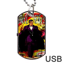 Monte Cristo Dog Tag Usb Flash (one Side) by Valentinaart