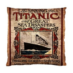 Titanic Standard Cushion Case (two Sides) by Valentinaart