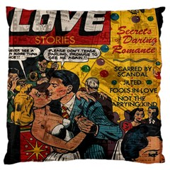 Love Stories Large Flano Cushion Case (two Sides) by Valentinaart