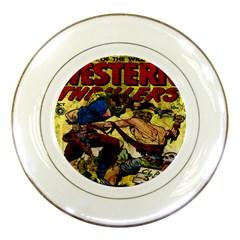 Western Thrillers Porcelain Plates by Valentinaart