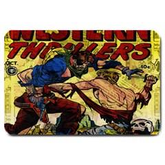 Western Thrillers Large Doormat  by Valentinaart