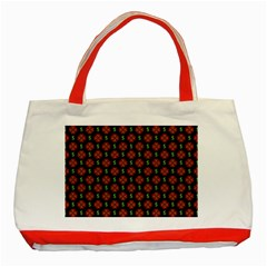 Dollar Sign Graphic Pattern Classic Tote Bag (red) by dflcprints
