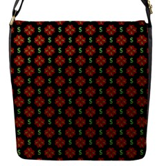 Dollar Sign Graphic Pattern Flap Messenger Bag (s) by dflcprints