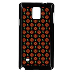 Dollar Sign Graphic Pattern Samsung Galaxy Note 4 Case (black) by dflcprints