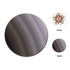 Fractal Background With Grey Ripples Playing Cards (round)  by Simbadda