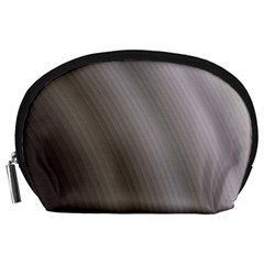 Fractal Background With Grey Ripples Accessory Pouches (Large)