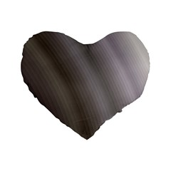 Fractal Background With Grey Ripples Standard 16  Premium Flano Heart Shape Cushions by Simbadda
