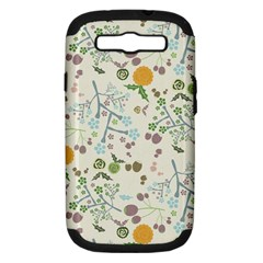 Floral Kraft Seamless Pattern Samsung Galaxy S Iii Hardshell Case (pc+silicone) by Simbadda