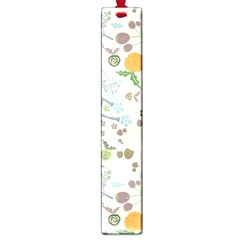 Floral Kraft Seamless Pattern Large Book Marks by Simbadda