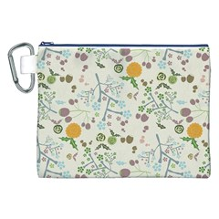 Floral Kraft Seamless Pattern Canvas Cosmetic Bag (xxl) by Simbadda