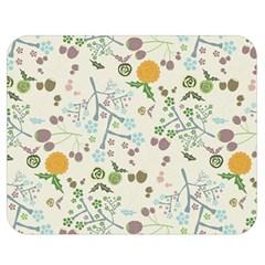 Floral Kraft Seamless Pattern Double Sided Flano Blanket (medium)  by Simbadda