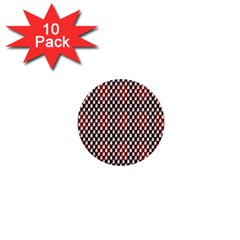 Squares Red Background 1  Mini Buttons (10 Pack)  by Simbadda