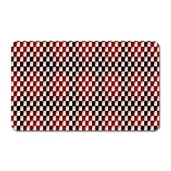 Squares Red Background Magnet (rectangular) by Simbadda