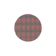 Squares Red Background Golf Ball Marker (4 Pack) by Simbadda