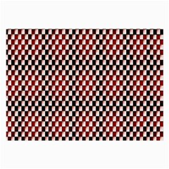 Squares Red Background Large Glasses Cloth by Simbadda
