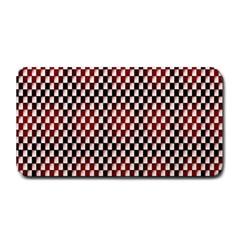 Squares Red Background Medium Bar Mats by Simbadda