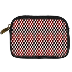 Squares Red Background Digital Camera Cases by Simbadda