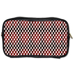 Squares Red Background Toiletries Bags by Simbadda