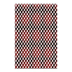 Squares Red Background Shower Curtain 48  X 72  (small)  by Simbadda