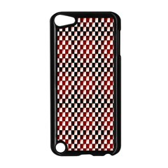 Squares Red Background Apple Ipod Touch 5 Case (black) by Simbadda