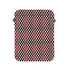Squares Red Background Apple Ipad 2/3/4 Protective Soft Cases by Simbadda