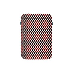 Squares Red Background Apple Ipad Mini Protective Soft Cases by Simbadda