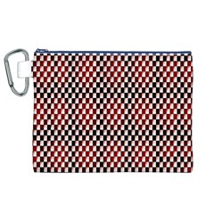 Squares Red Background Canvas Cosmetic Bag (xl) by Simbadda