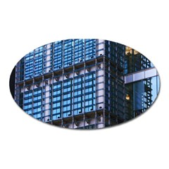 Modern Business Architecture Oval Magnet by Simbadda