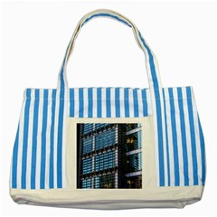 Modern Business Architecture Striped Blue Tote Bag by Simbadda