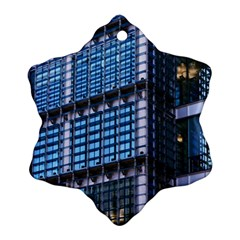Modern Business Architecture Snowflake Ornament (two Sides) by Simbadda