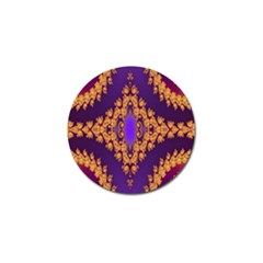 Something Different Fractal In Orange And Blue Golf Ball Marker (4 Pack) by Simbadda