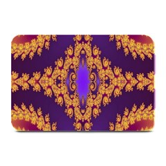 Something Different Fractal In Orange And Blue Plate Mats by Simbadda