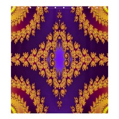 Something Different Fractal In Orange And Blue Shower Curtain 66  X 72  (large)  by Simbadda